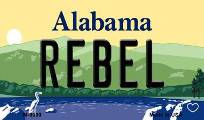 Rebel Alabama State Background Magnet Novelty