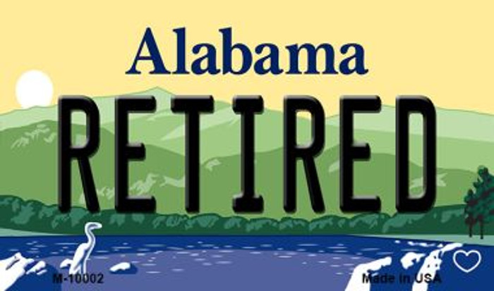 Retired Alabama State Background Magnet Novelty
