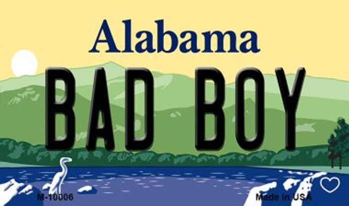 Bad Boy Alabama State Background Magnet Novelty