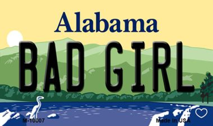 Bad Girl Alabama State Background Magnet Novelty