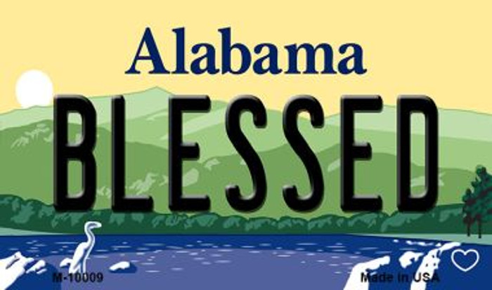 Blessed Alabama State Background Magnet Novelty