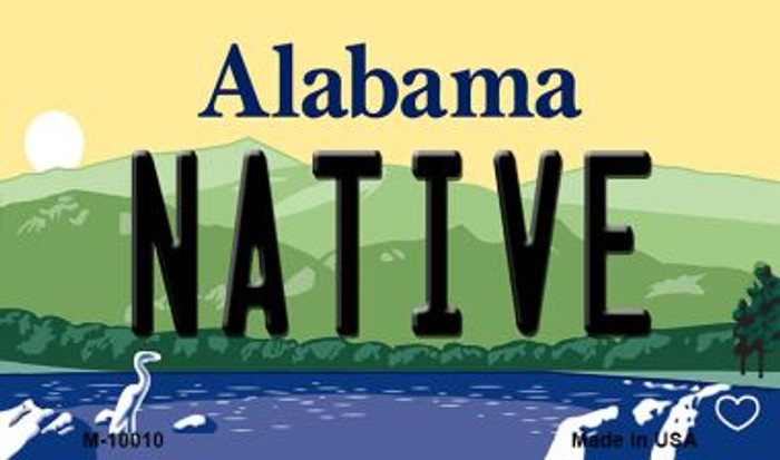 Native Alabama State Magnet Novelty M-10010