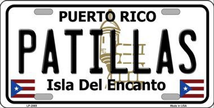Patillas Puerto Rico Metal Novelty License Plate LP-2865
