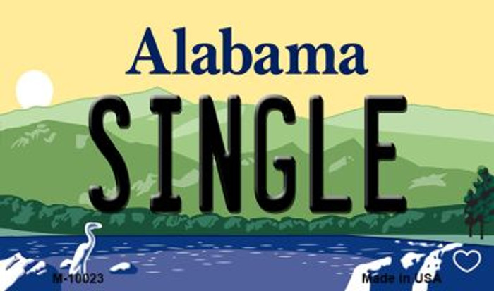 Single Alabama State Magnet Novelty M-10023