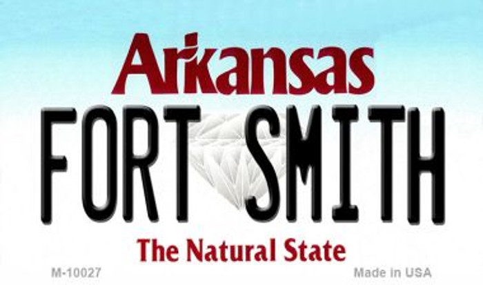 Fort Smith Arkansas State Background Magnet Novelty