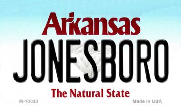 Jonesboro Arkansas State Background Magnet Novelty
