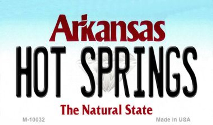 Hot Springs Arkansas State Background Magnet Novelty
