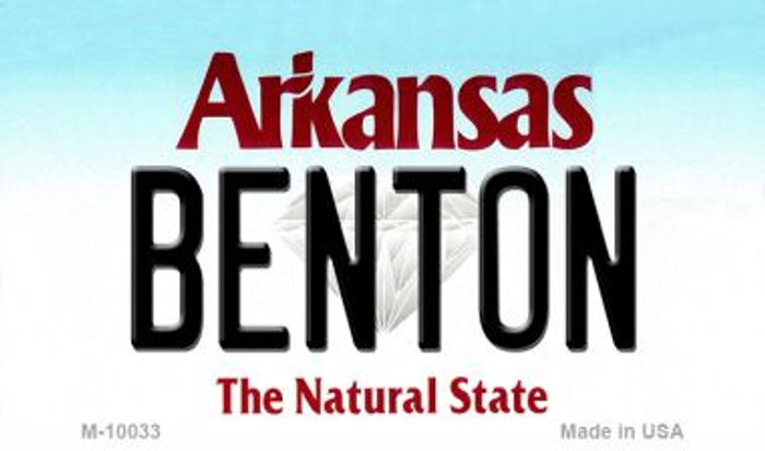 Benton Arkansas State Magnet Novelty M-10033