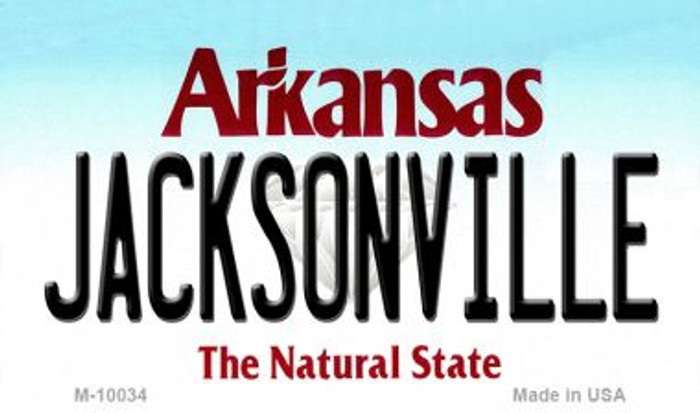 Jacksonville Arkansas State Background Magnet Novelty