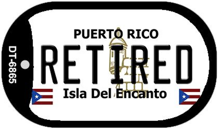 "Retired Puerto Rico Dog Tag Kit 2"" Metal Novelty"