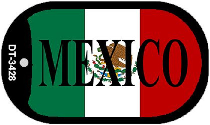 """Mexico Flag Dog Tag Kit 2"""" Metal Novelty Necklace"""