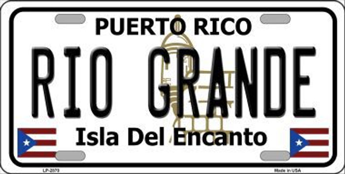 Rio Grande Puerto Rico Metal Novelty License Plate LP-2870