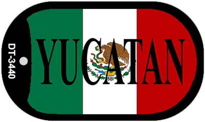"Yucatan Mexico Flag Dog Tag Kit 2"" Metal Novelty Necklace"