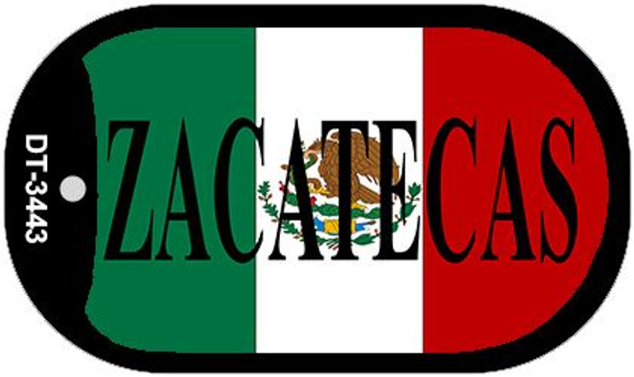 "Zacatecas Mexico Flag Dog Tag Kit 2"" Metal Novelty Necklace"
