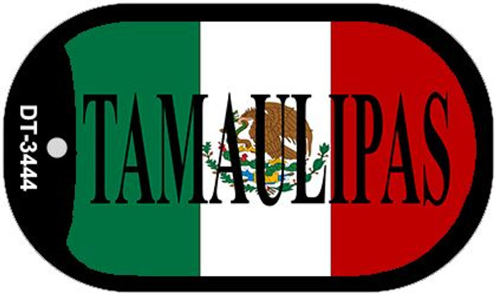 "Tamaulipas Mexico Flag Dog Tag Kit 2"" Metal Novelty Necklace"