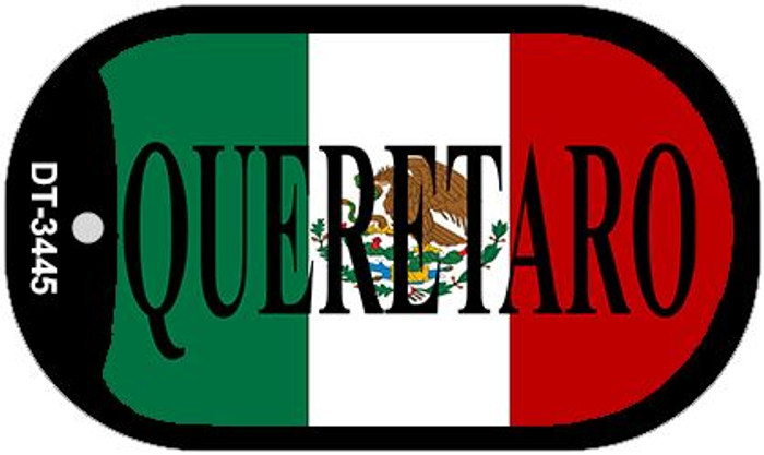 "Queretaro Mexico Flag Dog Tag Kit 2"" Metal Novelty Necklace"