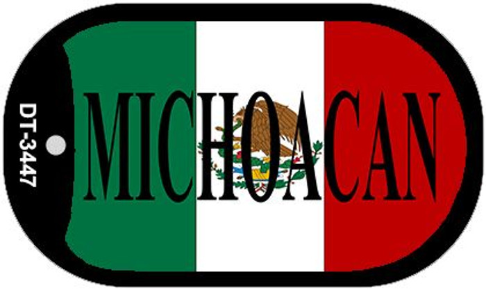 """Michoacan Mexico Flag Dog Tag Kit 2"""" Metal Novelty Necklace"""