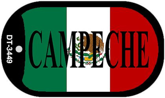 """Campeche Mexico Flag Dog Tag Kit 2"""" Metal Novelty Necklace"""