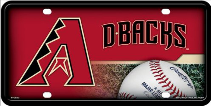 Arizona Diamondbacks License Plate Metal Novelty LP-655