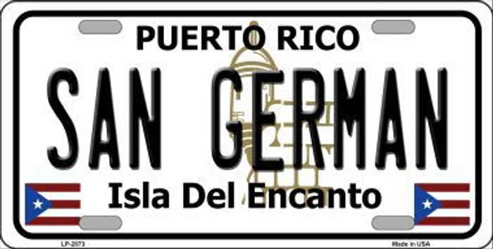 San German Puerto Rico Metal Novelty License Plate LP-2873
