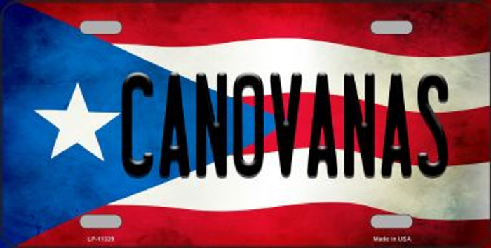 Canovanas Puerto Rico Flag Background License Plate Metal Novelty