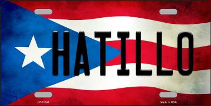 Hatillo Puerto Rico Flag Background License Plate Metal Novelty