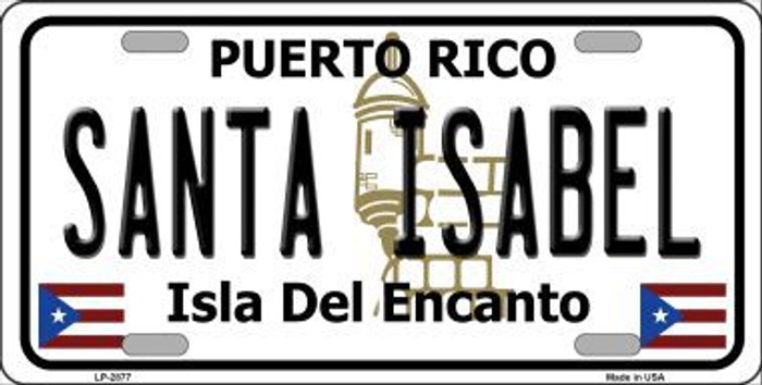 Santa Isabel Puerto Rico Metal Novelty License Plate LP-2877