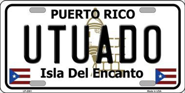Utuado Puerto Rico Metal Novelty License Plate LP-2881