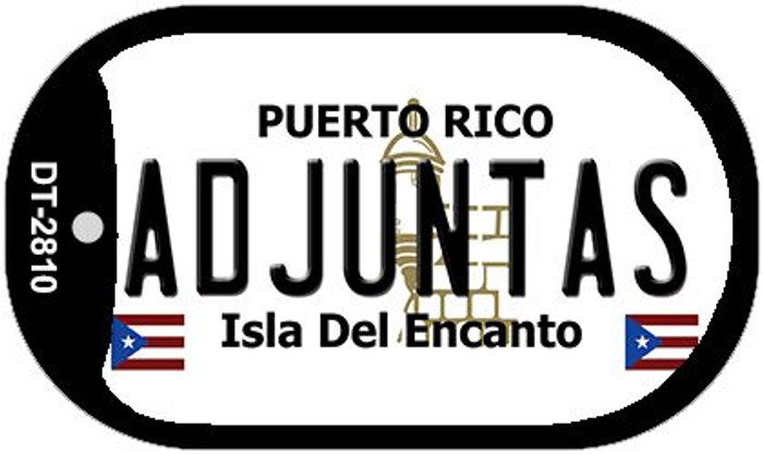 "Adjuntas Puerto Rico Dog Tag Kit 2"" Metal Novelty"