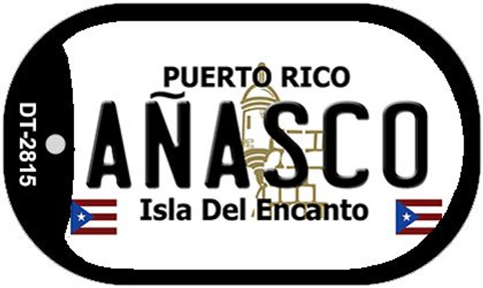 "Anasco Puerto Rico Dog Tag Kit 2"" Metal Novelty"
