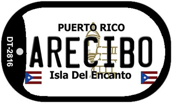 "Arecibo Puerto Rico Dog Tag Kit 2"" Metal Novelty"