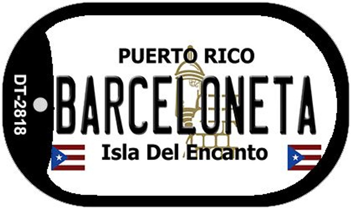 "Barceloneta Puerto Rico Dog Tag Kit 2"" Metal Novelty"