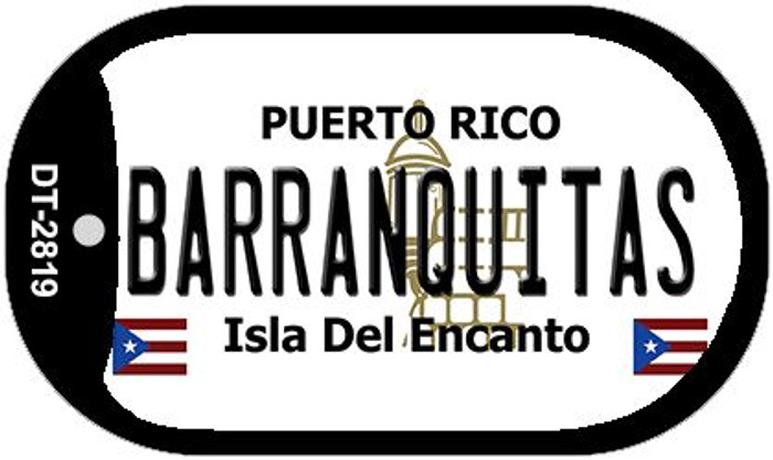 "Barranquitas Puerto Rico Dog Tag Kit 2"" Metal Novelty"