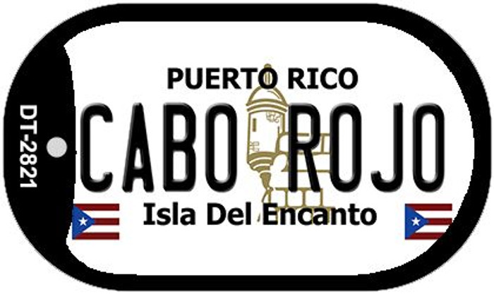 "Cabo Rojo Puerto Rico Dog Tag Kit 2"" Metal Novelty"