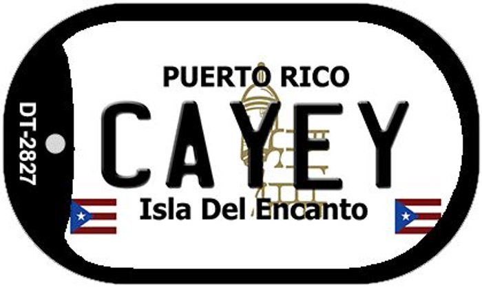 "Cayey Puerto Rico Dog Tag Kit 2"" Metal Novelty"