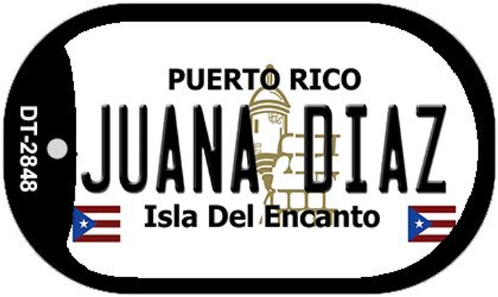 "Juana Diaz Puerto Rico Dog Tag Kit 2"" Metal Novelty"