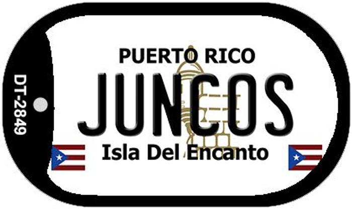 "Juncos Puerto Rico Dog Tag Kit 2"" Metal Novelty"