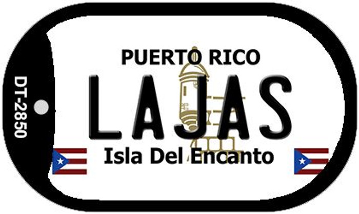 "Lajas Puerto Rico Dog Tag Kit 2"" Metal Novelty"