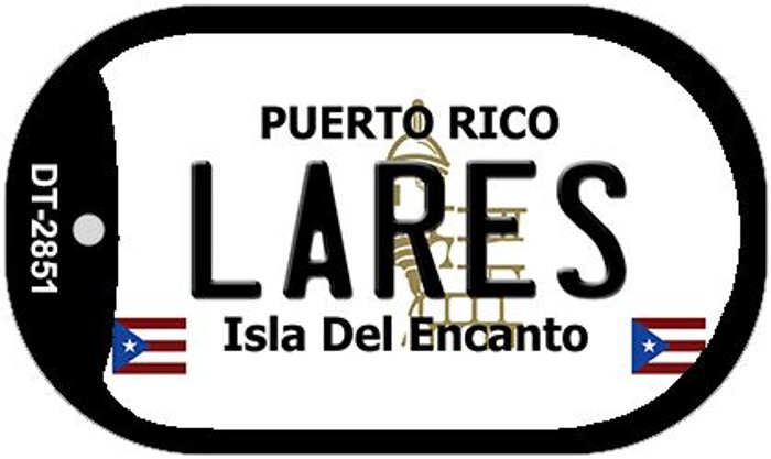 "Lares Puerto Rico Dog Tag Kit 2"" Metal Novelty"