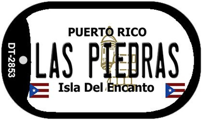 "Las Piedras Puerto Rico Dog Tag Kit 2"" Metal Novelty"