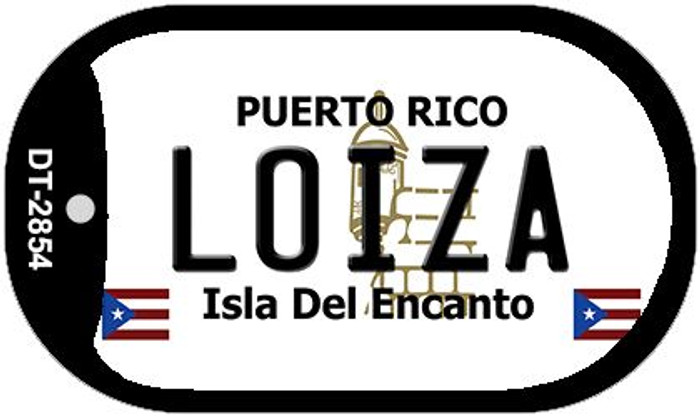 "Loiza Puerto Rico Dog Tag Kit 2"" Metal Novelty"
