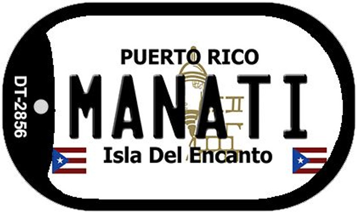 "Manati Puerto Rico Dog Tag Kit 2"" Metal Novelty"