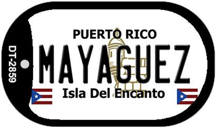 "Mayaguez Puerto Rico Dog Tag Kit 2"" Metal Novelty"