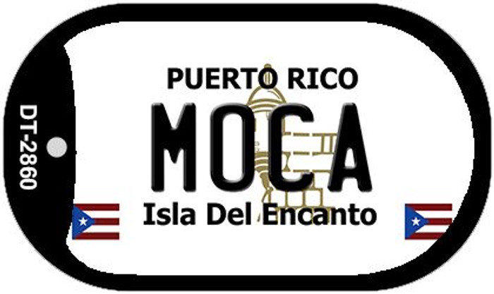 "Moca Puerto Rico Dog Tag Kit 2"" Metal Novelty"