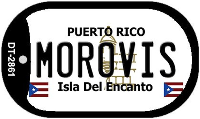 "Morovis Puerto Rico Dog Tag Kit 2"" Metal Novelty"