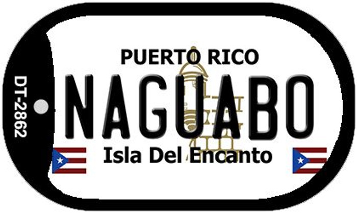 "Naguabo Puerto Rico Dog Tag Kit 2"" Metal Novelty"