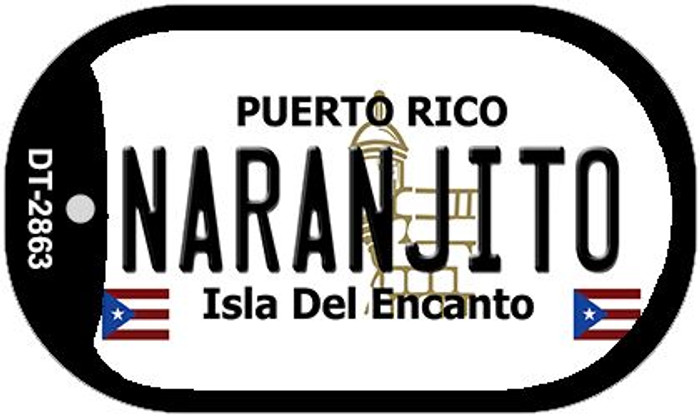 "Naranjito Puerto Rico Dog Tag Kit 2"" Metal Novelty"