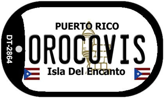 "Orocovis Puerto Rico Dog Tag Kit 2"" Metal Novelty"