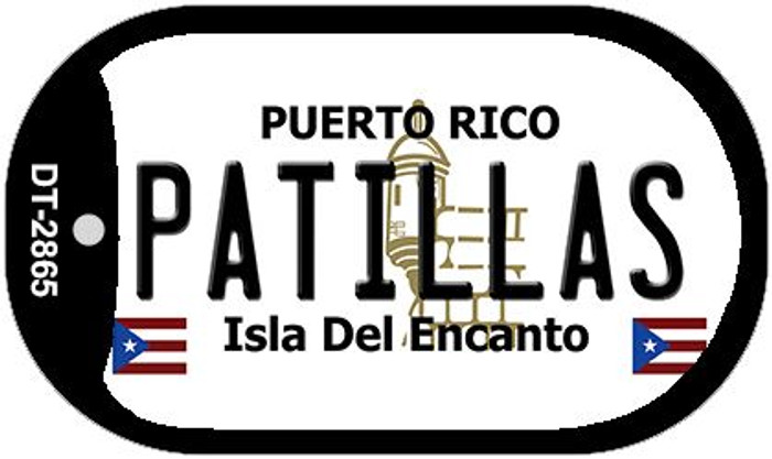 "Patillas Puerto Rico Dog Tag Kit 2"" Metal Novelty"