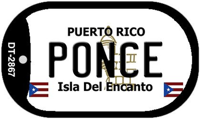 "Ponce Puerto Rico Dog Tag Kit 2"" Metal Novelty"